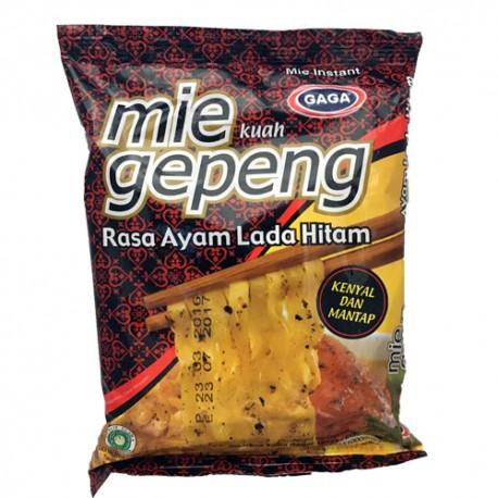 GAGA - Mi Gepeng Kuah Rasa Ayam Lada Hitam - Soupe de Nouilles saveur Poulet & Poivre Noir