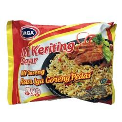 GAGA - Mi Keriting Sayur Goreng Rasa Iga Goreng Pedas - Nouilles Sautées saveur boeuf frit épicée