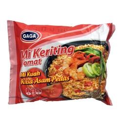 GAGA - Mi Keriting Tomat Kuah Rasa Asam Pedas - Soupe de Nouilles Sautées saveur Tomate & Aigre doux épicé