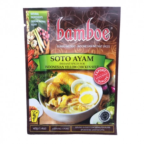 BAMBOE - Soto Ayam - Préparation d'épices pour Soto Ayam