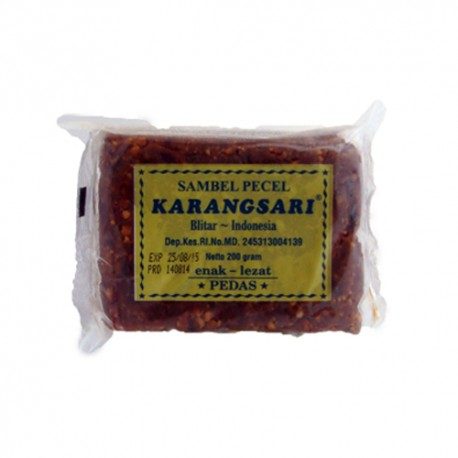 KARANGSARI - SAMBEL PECEL PEDAS - Préparation Sauce cacahuètes Piquante