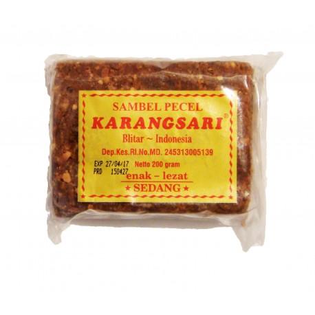 KARANGSARI - SAMBEL PECEL PEDAS - Préparation Sauce cacahuètes Piquante Moyenne